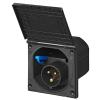 CEE toma exterior negro con tapa CEE 17,  IP44 de 16 amperios para autocaravana caravaning 1