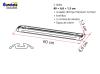 Fiamma 2 barras de 60 cm + 4 ojales + 2 correas de Garage-Bars Premium
