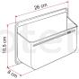Organizador 26 x 17 Fiamma Pocket L para lavabo o garaje autocaravana, camper o caravana 3