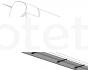 Toldo perfil barra Thule QuickFit y Thule EasyLink barra blanca de 4 metros para toldo Thule de autocaravana o caravana 1