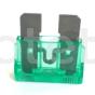 Fusible 30 amperios verde electricidad plano a 12 voltios