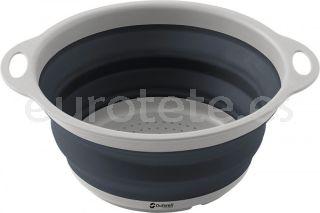 Escurridor colador cocina gris plegable