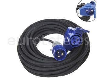 Alargo 15 metros de cable electrico 3 clavijas monofasico + enchufe doble CEE / Schuko hembra autocaravana 1