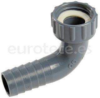Codo 25 mm tubo a rosca hembra 40 mm racor agua 1