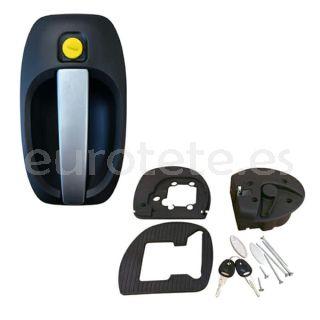 Cerradura puerta fap firenze 1122DX28PEN negro / plata + 1075SX2055PI + marco
