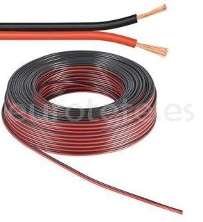 Cable 2,5 mm paralelo negro y rojo de electricidad 1