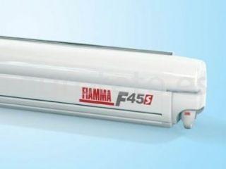 Toldo Fiamma F45S 300 x 250 blanco polar white y lona gris royal grey 1