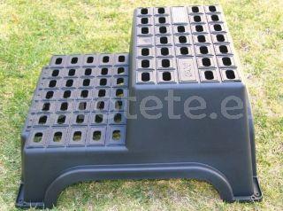Escalera plastico doble nivel para caravana XL modulo camping 1