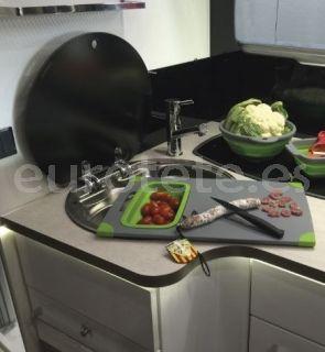 Tabla de cortar con escurridor cocina camping y autocaravana 2