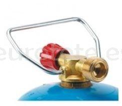 Valvula de ajuste para botella gas azul con asa