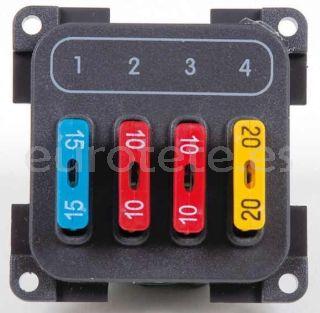 Modulo 4 fusibles CBE con marco