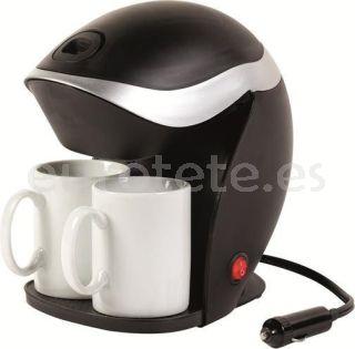 Cafetera 12 voltios con 2 tazas para caravaning