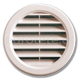Rejilla redonda blanco para ventilacion cocina y tubo calefaccion Truma de la autocaravana