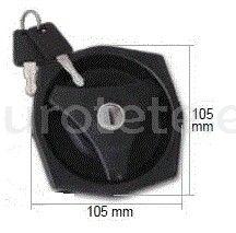 Cierre negro FAP Firenze 103310HZ51PE con bombin y 2 llaves