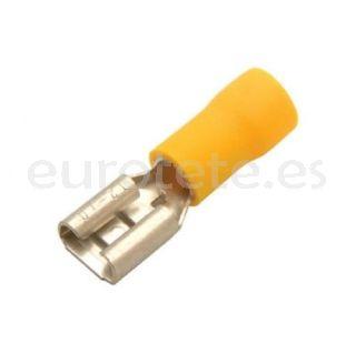 Terminal faston amarillo hembra 6.3 mm