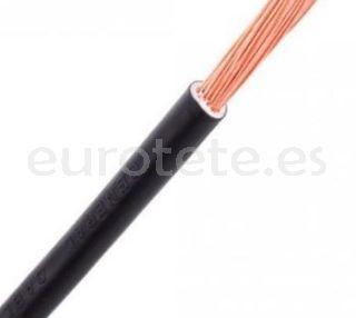 Cable 4 mm flexible universal negro para instalación eléctrica