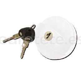 Tapon bocana blanco fap con dos llaves New System para autocaravana