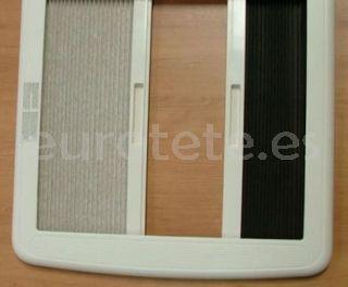 Marco claraboya 400 x 400 crema Mini Heki Plus 40 x 40 recambio marco interior con oscurecedor y mosquitera 1