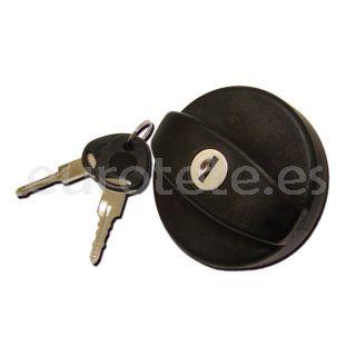 Tapon bocana negro fap con dos llaves New System para autocaravana