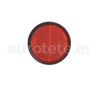 Reflector rojo adhesivo Ø 58 pegatina para remolque u otros