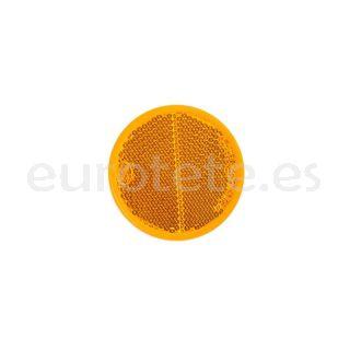 Reflector naranja adhesivo Ø 56 pegatina para caravana, remolque u otros