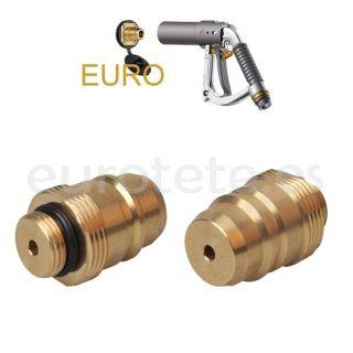 Adaptador GLP euroconector Europa toma de gas externa gas para la botella recargable