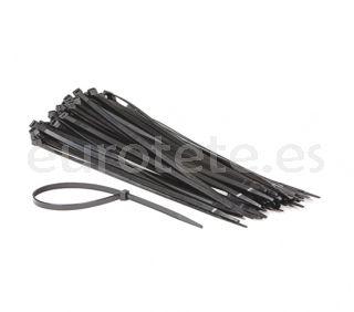 Bridas negras 50 unidades de 28 cm para instalacion tubo, cable o bricolaje caravaning 2