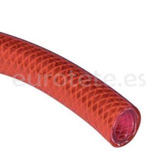 Manguera roja 10 mm reforzada para instalacion agua de la autocaravana, caravana o camper