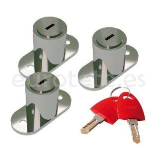 Fiamma Safe door 98656M157 kit de 3 cerraduras y 6 llaves iguales autocaravana