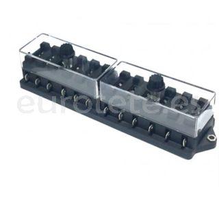 Caja porta fusible de 8 fusibles para electronica vehiculo 1