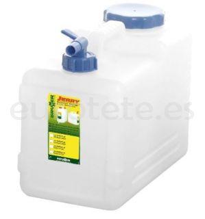 Bidon 15 litros 36 x 20 x 30 garrafa agua Jerry Pro con tapon de rosca y  tapon on / off