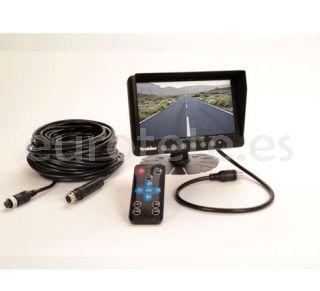 Camara doble Vechline Visio Dual + monitor + mando + cable para autocaravana 3