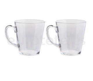 Taza 2 unidades policarbonato para te o cafe transparente con asa