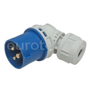 Adaptador CEE 17 articulado clavija enchufe macho IP44 16 amperios