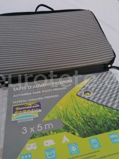 Suelo avance 300 x 500 mm premium gris alfombra avance 480 g / m2 camping