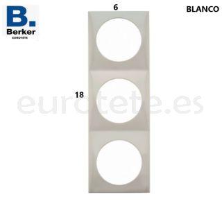 Berker-blanco-triple-marco-interruptor-electricidad-pulsador-inprojal-gala-autocaravana