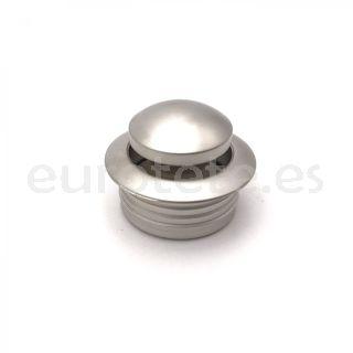 Pulsador mini plateado con anillo cierre push lock mueble camperizacion 1