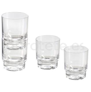 Vasos pack 2 Brunner Kaptim transparente