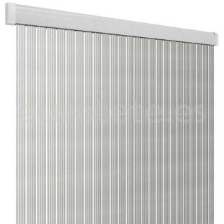 Cortina 60 x 190 PVC Arisol Band Lux plateado y blanco 1