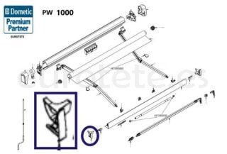 Dometic PW 1000 tapa izquierda carril externo panel frontal