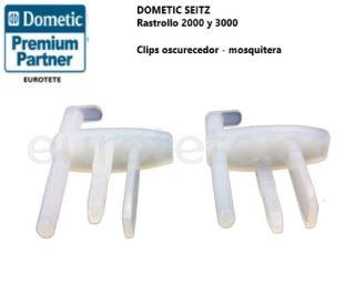 Clips kit recambio oscurecedor mosquitera Rastrollo 2000 y 3000 ventana 1