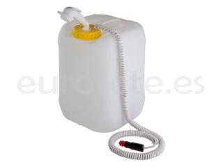 Bidon agua 20 litros con rosca DIN 96 y kit ducha portatil Comet 1