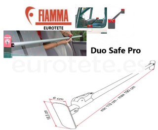 Barra cabina seguridad Fiamma Duo Safe Pro autocaravana 2