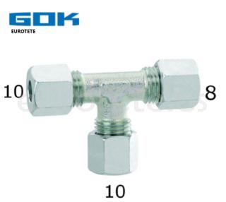 10 mm - 10 mm - 8 mm en T racor instalacion gas Gok autocaravana 1
