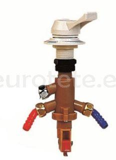 Grifo premezclador agua fria y caliente conexion manguera agua 10 mm 3/8
