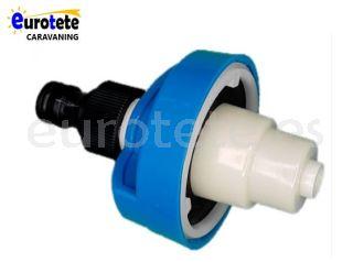 Bocana azul conector rapido adaptador de la manguera agua autocaravana 1