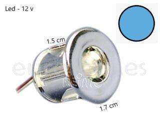 Mini led azul Ø 15 mm para empotrar a 12 voltios ideal camper y autocaravana
