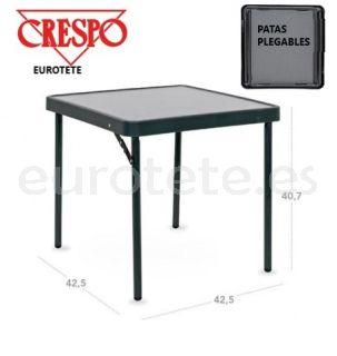 Mesa Crespo auxiliar 42 x 42 x 40 negro antracita camping 1