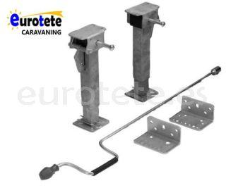 Patas niveladoras 290 - 450 mm kit estabilizador aluminio autocaravana 1