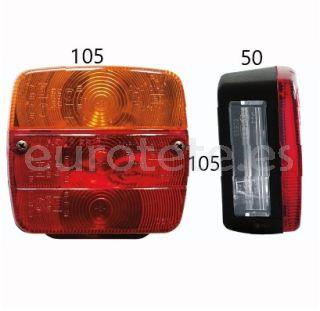 Luz-trasera-cuadrada-rojo-naranja-AJBA-luz-de freno-intermitente- luz-trasera-luz-de-matrícula